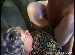 Horny grandmother got fucked with delivery boy
