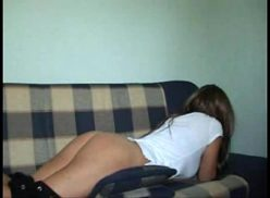 Teen homemade video porn belt on the bare this time